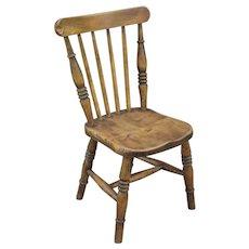 Antique English Elm Child's Chair