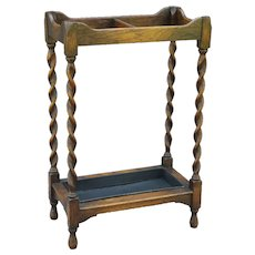 Antique English Oak Stick / Umbrella Stand