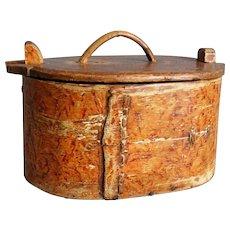 19th-Century Antique Norwegian Tine Box, Scandinavian