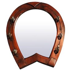 Circa 1910 Equestrian Horseshoe Mirror, English