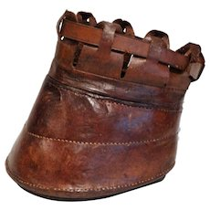 Antique Equestrian Horse Lawn Boot / Slipper