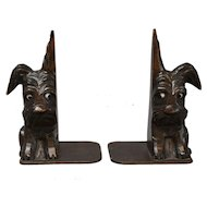 Black Forest Style Scottie Dog Bookends, Pair