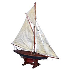 19th-Century English Pond Yacht Schooner