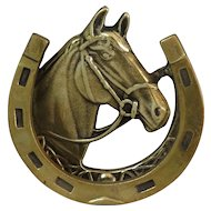 Brass English Equestrian Horse Door Knocker