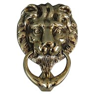 Solid Brass English Lion Door Knocker