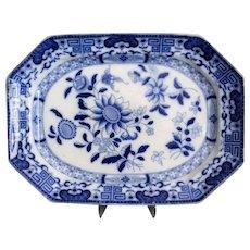 Antique English Masons Blue & White Platter
