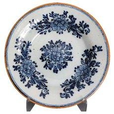 Antique Dutch Delft Plate, 'The Hatchet' Mark
