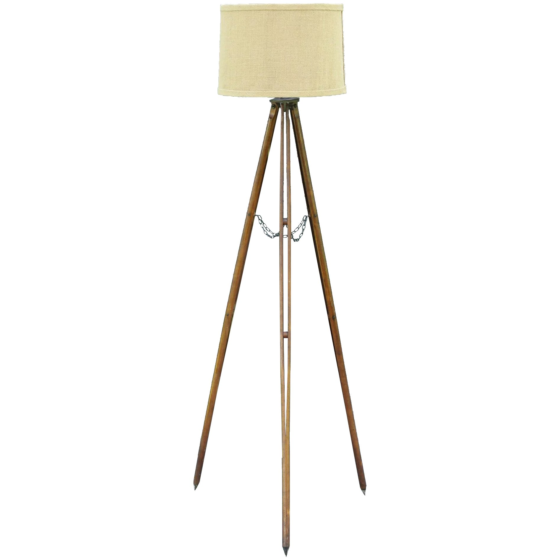Surveyor39s tripod floor lamp american wood faded rose for Surveyors floor lamp wood