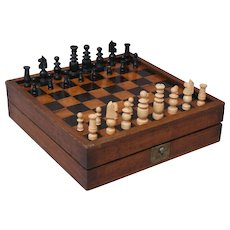 Antique English Games Board, Chess, Checkers, Backgammon, Nine Men Morris