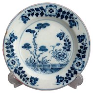 18th-Century Antique Dutch Faience Chinoiserie Plate