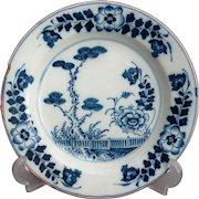 18th-Century Antique Dutch Faience Chinoiserie Plate
