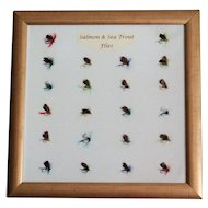 Mounted Salmon & Sea Trout Flies Ready to Hang on Wall