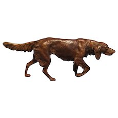 Continental Bronze Figural Sporting Dog on Point