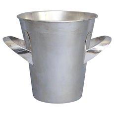 English Art Deco Silver Wine Cooler / Ice Bucket, Circa 1930, Wedding