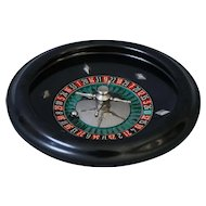 Early French Bakelite Roulette Wheel Gambling Game Set