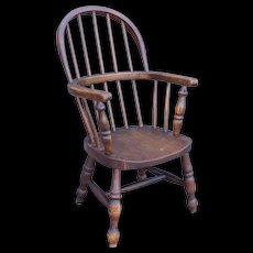 Antique English Child's Hoopback Windsor Chair