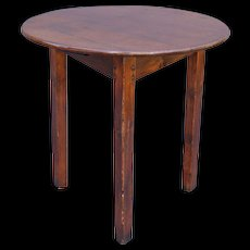 Antique English Chestnut Cricket Table, One Board Top