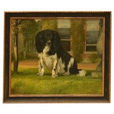 King Charles Spaniel Dog Portrait Oil Painting