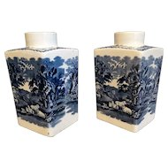 English 'British Scenery' Vases, Pair