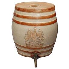 19th-Century Antique Doulton Lambeth Brandy Cask Barrel Dispenser