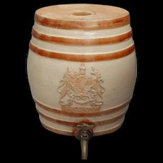 19th-Century Antique Doulton Lambeth Brandy Cask Barrel Dispenser