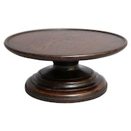 Antique English Oak Revolving Lazy Susan Tray
