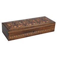 English Edwardian Tunbridge Ware Pen & Pencil Box