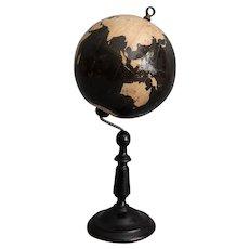 Antique English Gent's World Globe on Stand
