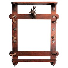 Early Continental Hanging Antler Rack