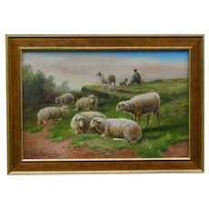 Sheep Oil on Canvas, Cornelius Van Leemputten