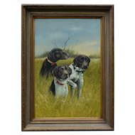 Sporting Dogs Portrait Oil Painting, D Fox
