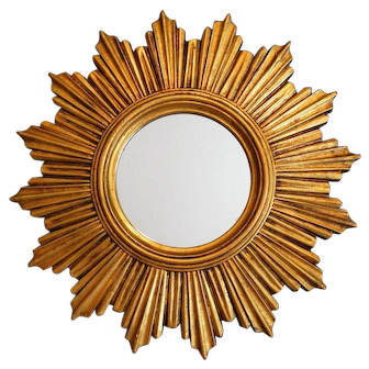 Mid Century French Sunburst Mirror
