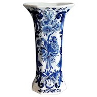 Antique Large Delft Vase, Blue & White