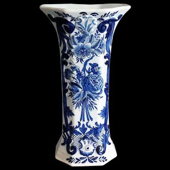 Antique Large Delft Vase, Blue & White