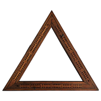 Antique English Rosewood Cribbage Board Game