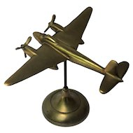 English Bristol Beaufighter WW II Model Airplane Brass