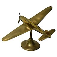 British Hawker Hurricane Brass Model Airplane