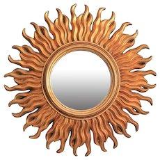 Mid Century Italian Sunburst Mirror