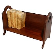 English Mahogany Table Top Book Stand Shelf