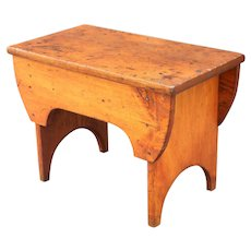 Antique American Pine Bench, Square Nail Construction