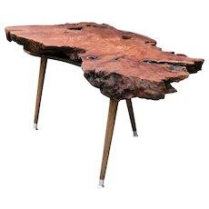 Burl Walnut Live Edge Coffee Table