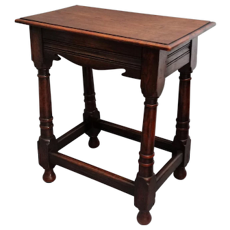 Antique English Oak Joint Stool / Table