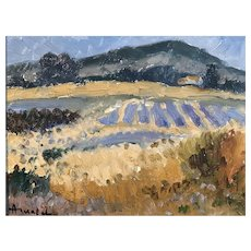 Lavender Fields Provence France, Albert Malet Post Impressionist Painting