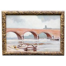 The Bridge at St. Jean de Luz, William Eyre Oil Painting