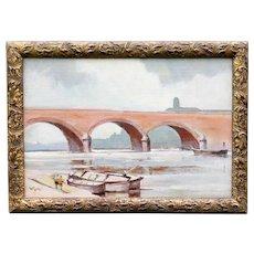 The Bridge at St. Jean de Luz, William Eyre Oil Painting