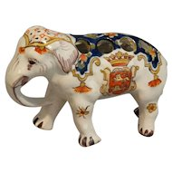 Antique French Faience Elephant Figural Vase