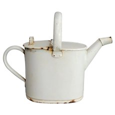 Circa 1930, French Enamelware Pitcher