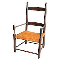 Americana Folk Art Child's Chair
