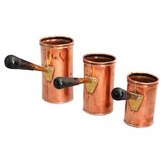 English Copper Ale Measures, Set of 3