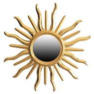 Mid Century Italian Sunburst Wall Mirror